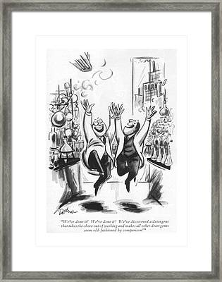 We've Done It! We've Done It! We've Discovered Framed Print by Eldon Dedini