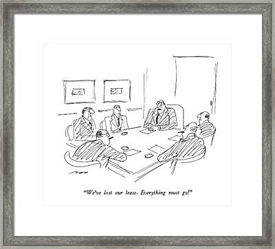 We've Lost Our Lease.  Everything Must Go! Framed Print by Al Ross