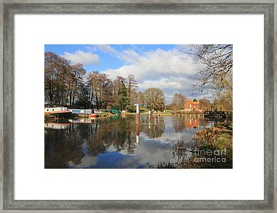 Wey Canal Surrey England Uk Framed Print
