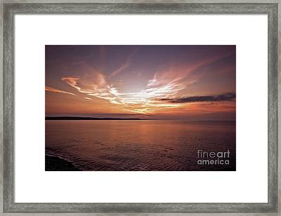 Framed Print featuring the photograph Weymoth Morning Glory by Baggieoldboy