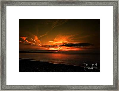 Framed Print featuring the photograph Weymouth  Golden Sunrise by Baggieoldboy