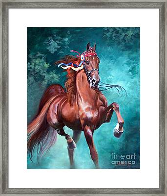 Wgc Courageous Lord Framed Print by Jeanne Newton Schoborg