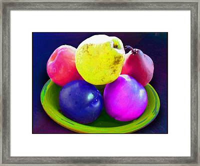 Whadda Pear Exclamation Point Framed Print by Ginny Schmidt