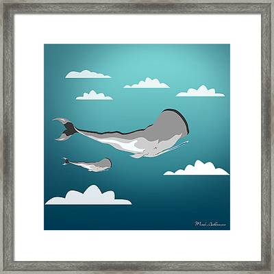 Whale 7 Framed Print by Mark Ashkenazi