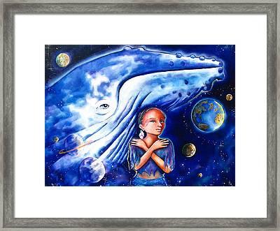 Whale Dreamer Framed Print by Nori Seaweed