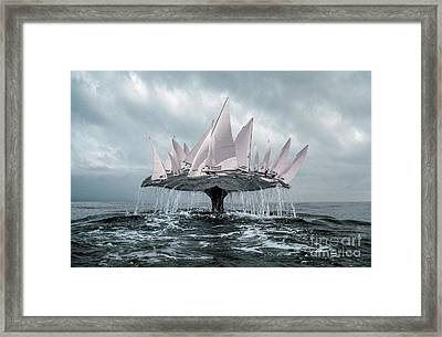 Framed Print featuring the pyrography Whale by Evgeniy Lankin