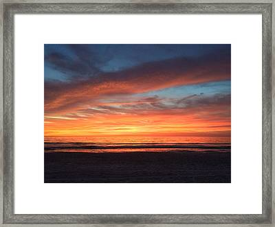 Whale Eye In Sky Sunset St.pete Beach Framed Print