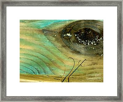 Whale Eye Framed Print by Michael Cinnamond