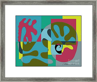 Whale In The Melted Sea.  Framed Print by Cathy Peterson