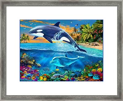 Whale Framed Print by Jan Patrik Krasny