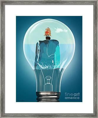 Whale Lights  Framed Print