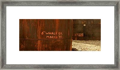 Whale Oil Tanks Framed Print by Amanda Stadther