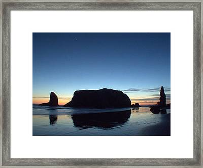 Framed Print featuring the photograph Whale Rock by Suzy Piatt