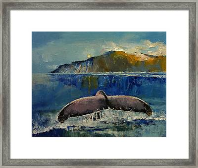 Whale Song Framed Print by Michael Creese