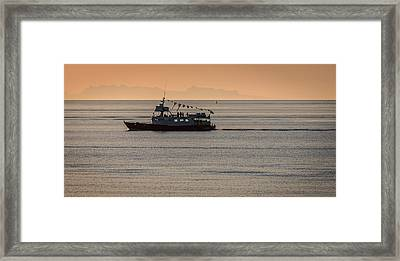 Whale Watching Tour, Reykjavik, Iceland Framed Print by Panoramic Images