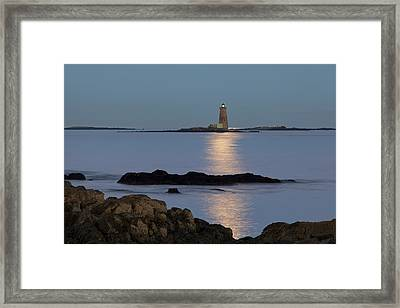 Whaleback Lighthouse Framed Print by Eric Gendron