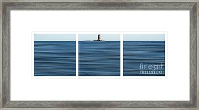 Whaleback Lighthouse Framed Print by Sabine Jacobs