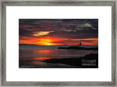 Whaleback Lighthouse Framed Print by Scott Thorp