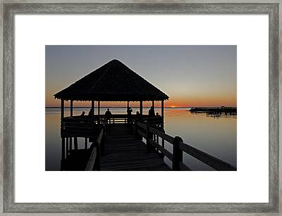 Framed Print featuring the photograph Whalehead Sunset Obx by Greg Reed