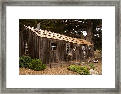 Whalers Cabin Framed Print by Barbara Snyder