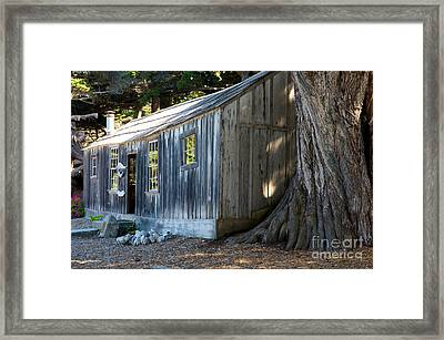 Framed Print featuring the photograph Whaler's Cabin by Vinnie Oakes