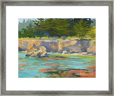 Whalers Cove Point Lobos Framed Print by Rhett Regina Owings