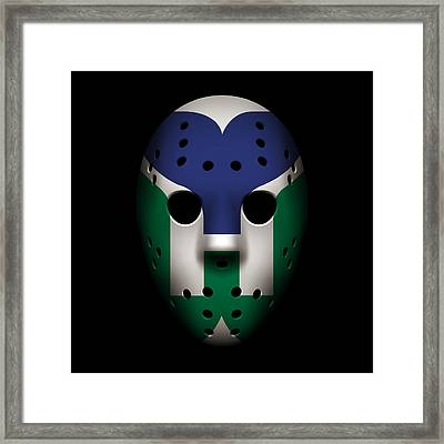 Whalers Goalie Mask Framed Print