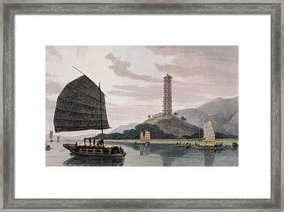 Wham Poa Pagoda, With Boats Sailing Framed Print