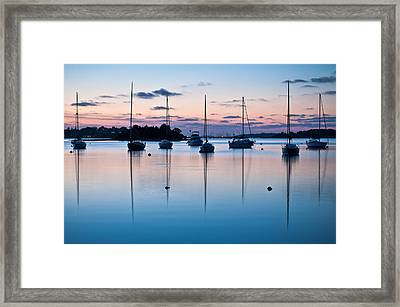 Wharf Blue Hour Framed Print by Lee Costa