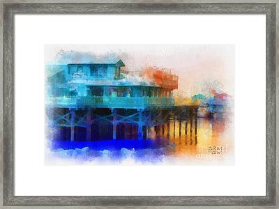Wharf Color Framed Print