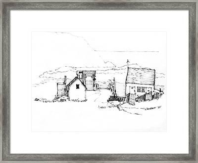 Wharf Monhegan Island 1987 Framed Print