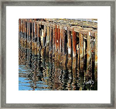 Wharf Reflections Framed Print
