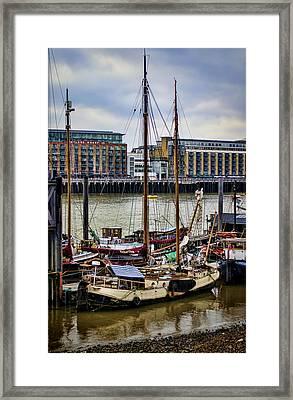 Wharf Ships Framed Print by Heather Applegate