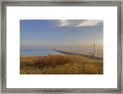 Wharf To Infinity Framed Print