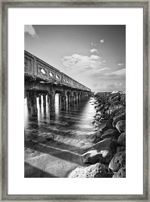 Framed Print featuring the photograph Wharf by Hawaii  Fine Art Photography