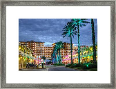 Framed Print featuring the digital art Wharf Turquoise Lighted  by Michael Thomas