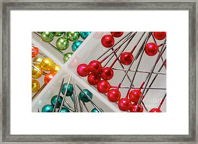 Framed Print featuring the digital art What A Buncha Pinheads by Margie Chapman