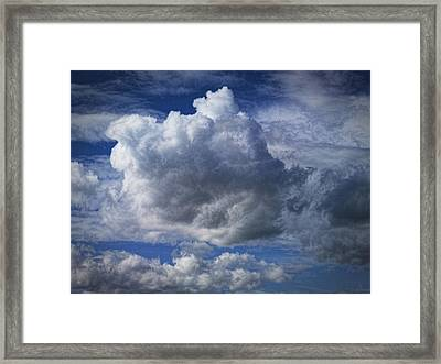 What A Cloud Framed Print by Nafets Nuarb