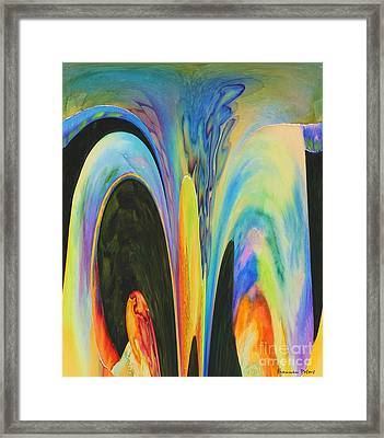 What A Lovely Sinkhole Framed Print by Shannan Peters