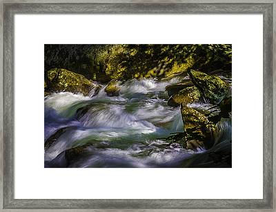 What A Rush Framed Print by Barry Jones