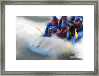 White Water Rafting What A Rush Framed Print
