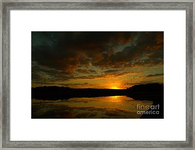 What A Sunset Framed Print by Donna Brown