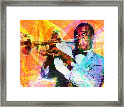 What A Wonderful World Louis Armstrong 20141218 Framed Print by Wingsdomain Art and Photography