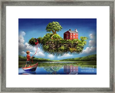 Framed Print featuring the painting What A Wonderful World by S G