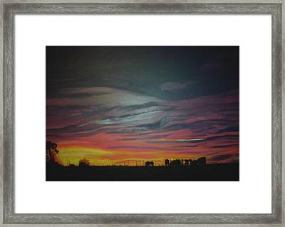 What Alva Saw Framed Print by Michael Mahue Moore