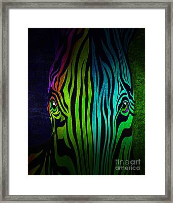 What Are You Looking At 3 Framed Print by Peter Piatt