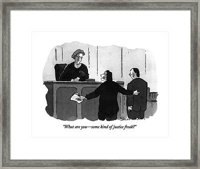 What Are You - Some Kind Of Justice Freak? Framed Print