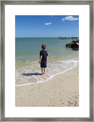 Framed Print featuring the photograph What Boys Are Made Of by Ella Kaye Dickey