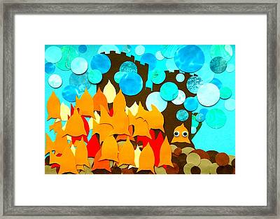 What Castle Framed Print by David Pegher