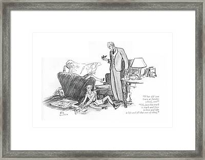 What Did You Learn At Sunday School Framed Print by Alice Harvey